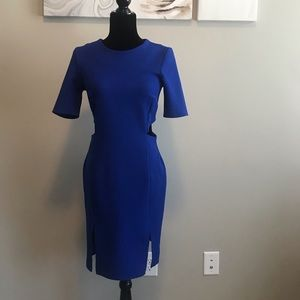TOPSHOP Royal Blue fitted Dress size 6